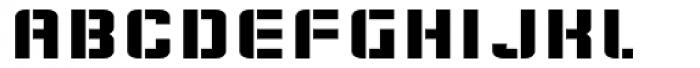 Flim Stencil Wide Font UPPERCASE