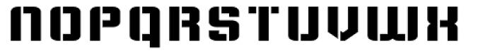 Flim Stencil Wide Font LOWERCASE