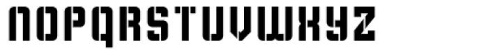 Flim Stencil Font LOWERCASE
