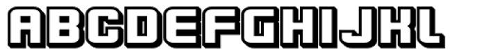 Flim Wide 3 d Font UPPERCASE