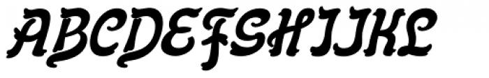 Flinscher Demi Bold Italic Font UPPERCASE