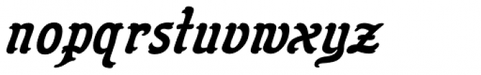 Flinscher Demi Bold Italic Font LOWERCASE