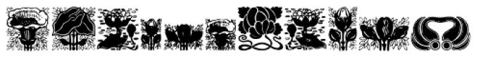 Floral Font UPPERCASE