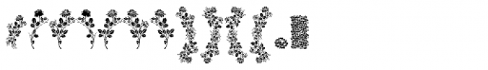 Floreale Font UPPERCASE