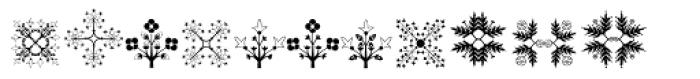 Floreart Three Font UPPERCASE