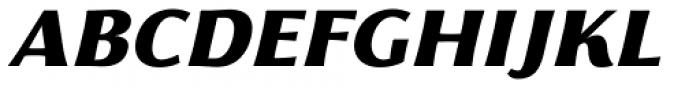 Florentia Black Italic Font UPPERCASE