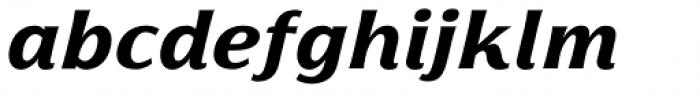 Florentia ExtraBold Italic Font LOWERCASE