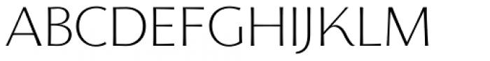 Florentia ExtraLight Font UPPERCASE