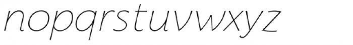 Florentia Thin Italic Font LOWERCASE