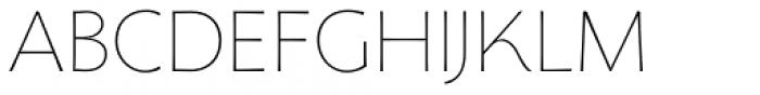 Florentia Thin Font UPPERCASE