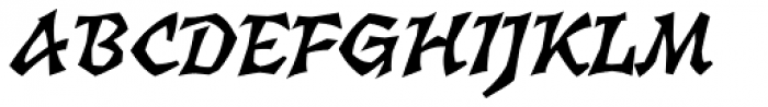 Florentin 2D Bold Italic Font UPPERCASE