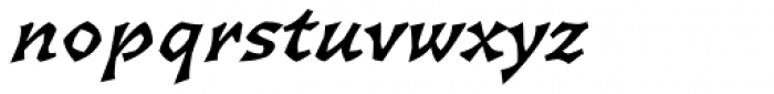 Florentin 2D Bold Italic Font LOWERCASE