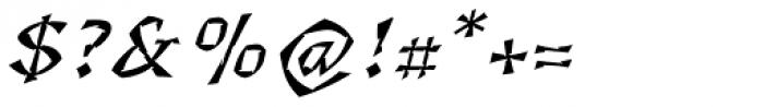 Florentin 2D Gravure Italic Font OTHER CHARS