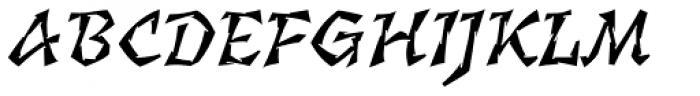 Florentin 2D Gravure Italic Font UPPERCASE