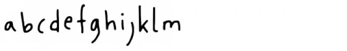 Florentina Regular Font LOWERCASE