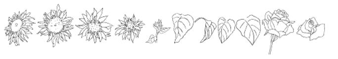 Flower Sketch Neue Font UPPERCASE