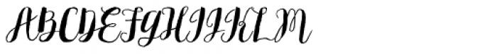 Flowy Brush Freehand Font UPPERCASE