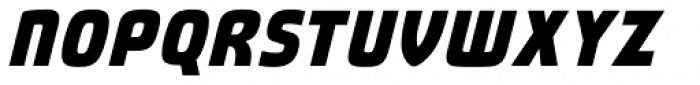 Fluctuation ExtraBold Italic Font UPPERCASE