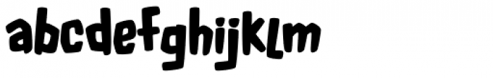 Fluffy Slacks BTN Bold Font LOWERCASE