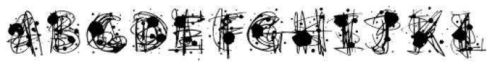 Flurry Black Font UPPERCASE