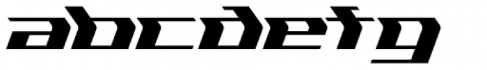 Flyover Solid Font LOWERCASE