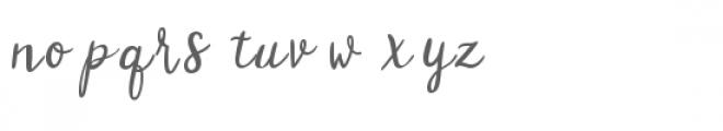 flower meadow Font LOWERCASE