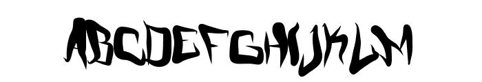 FMCreepMode Font LOWERCASE