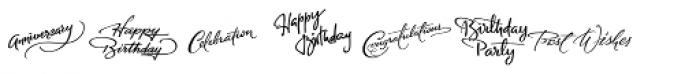 FM Birthday 1.0 Font UPPERCASE