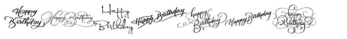 FM Birthday 1.0 Font LOWERCASE