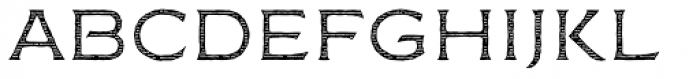 FM Bolyar Engraved Two NPro 100 Font LOWERCASE