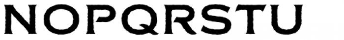 FM Bolyar Rough NPro 700 Font UPPERCASE