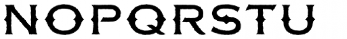 FM Bolyar Rough OPro 500 Font UPPERCASE