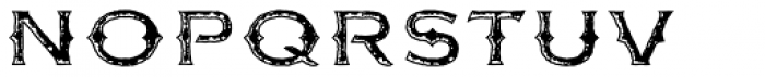 FM Bolyar Rust Two OPro 500 Font LOWERCASE