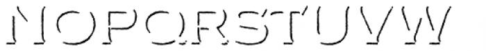 FM Bolyar Shadow NPro 100 Font LOWERCASE