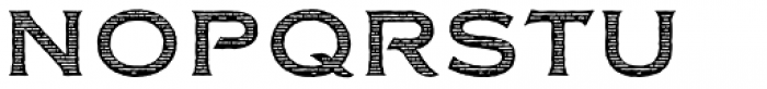 FM Bolyar Woodcut One NPro 700 Font UPPERCASE