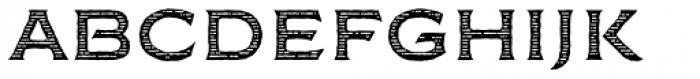 FM Bolyar Woodcut One NPro 700 Font LOWERCASE