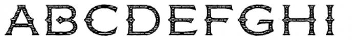 FM Bolyar Woodcut One OPro 300 Font UPPERCASE
