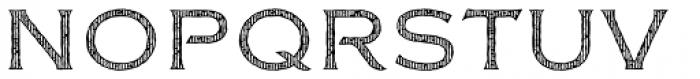 FM Bolyar Woodcut Two NPro 300 Font UPPERCASE