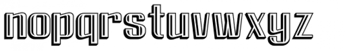 FM Clog Engraved Font LOWERCASE