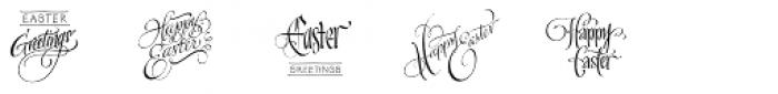 FM Easter Pro Font UPPERCASE