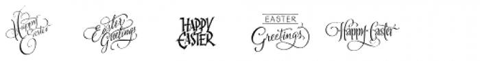 FM Easter Pro Font LOWERCASE