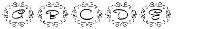 FM Ephire Frames Font LOWERCASE