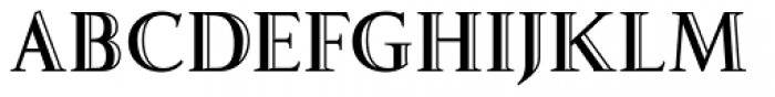 Fnord Engraved Font UPPERCASE