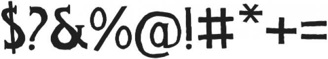 FOUNDFONT BAD POSTCARD otf (400) Font OTHER CHARS