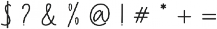 Follback otf (400) Font OTHER CHARS