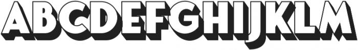 Fonseca Grande Extrude otf (400) Font UPPERCASE