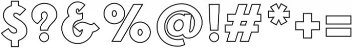 Fonseca Grande Outline otf (400) Font OTHER CHARS
