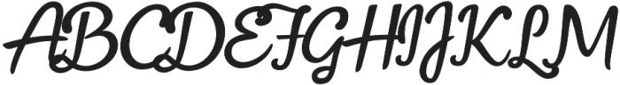 Fonseca Script otf (400) Font UPPERCASE