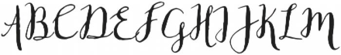 Fontastic Bianca Script otf (400) Font UPPERCASE