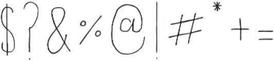 Fontastic Handy otf (400) Font OTHER CHARS